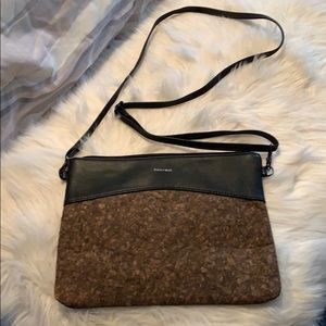 Pixie and Mood Cork and Black Vegan Leather Bag
